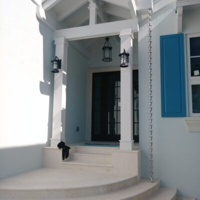 gutters metals tavernier keys florida rain chains