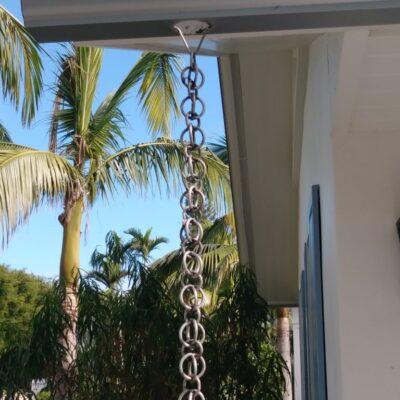 isla morada rain chains gutters metals tavernier keys florida